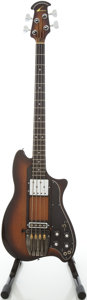 Musical Instruments:Bass Guitars, Circa early 1980's Ovation Magnum Sunburst Electric Bass Guitar, #B01928....