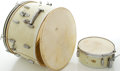 Musical Instruments:Drums & Percussion, Circa 1951 Slingerland White Marine Pearl Drums....