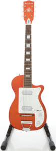 Musical Instruments:Electric Guitars, Eastwood Reissue Harmony Stratotone Candy Apple Red Solid BodyElectric Guitar, #0701451....