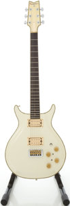 Musical Instruments:Electric Guitars, Circa Mid 1980's Lotus White Solid Body Electric Guitar, #858928....