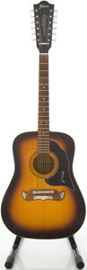 Musical Instruments:Acoustic Guitars, 1960's Framus Texan Model Sunburst 12 String Acoustic Guitar, #12328....