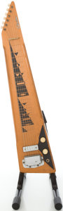 Musical Instruments:Lap Steel Guitars, Circa Early 1960's Silvertone Copper Lap Steel Guitar....