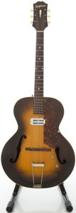 Musical Instruments:Acoustic Guitars, Circa 1942 Epiphone Zenith Sunburst Archtop Electric Guitar,#18612....