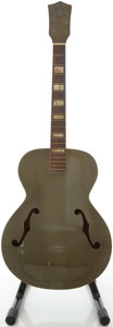 Musical Instruments:Acoustic Guitars, Circa early 1950's Orpheum Silver Archtop Acoustic Guitar, #L7597826....