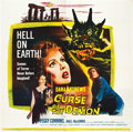 "Movie Posters:Horror, Curse of the Demon (Columbia, 1957). Six Sheet (81"" X 81"").Horror.. ..."