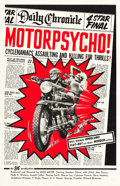 "Movie Posters:Exploitation, Motor Psycho! (Eve Productions, 1965). One Sheet (27"" X 41"").. ..."