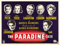 "Movie Posters:Hitchcock, The Paradine Case (Selznick, 1948). British Quad (30"" X 40"").. ..."