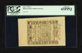 Colonial Notes:Rhode Island, Rhode Island May 1786 £3 PCGS Gem New 65PPQ.. ...