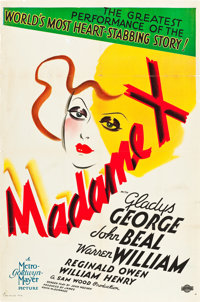 "Madame X (MGM, 1937). One Sheet (27"" X 41"") Style C"