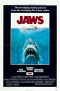 "Movie Posters:Horror, Jaws (Universal, 1975). One Sheet (27"" X 41"") Flat Folded.. ..."