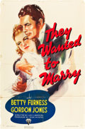 "Movie Posters:Adventure, They Wanted to Marry (RKO, 1937). One Sheet (27"" X 41"").. ..."