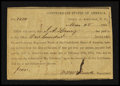 Confederate Notes:Group Lots, Interim Depositary Receipt Asheville, NC- $100 Mar. 28, 1864Tremmel NC-10 Type 1B.. ...