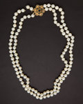 Estate Jewelry:Pearls, Estate Double Strand Of Pearls. ...