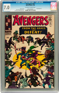 Silver Age (1956-1969):Superhero, The Avengers #24 (Marvel, 1966) CGC FN/VF 7.0 Off-white to white pages....