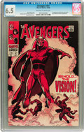 Silver Age (1956-1969):Superhero, The Avengers #57 (Marvel, 1968) CGC FN+ 6.5 Off-white to white pages....