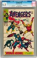 Silver Age (1956-1969):Superhero, The Avengers #58 (Marvel, 1968) CGC FN+ 6.5 Off-white to white pages....