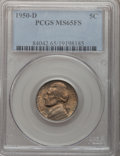 Jefferson Nickels: , 1950-D 5C MS65 Full Steps PCGS. PCGS Population (962/510). NGCCensus: (139/191). (#84042)...