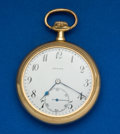 Timepieces:Pocket (post 1900), Zenith 18k Pocket Watch With Anti-Magnetic Shield. ...