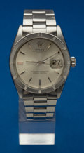 Timepieces:Wristwatch, Rolex Ref. 1501 Gent's Steel Oyster Perpetual Date, circa 1960's....