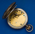 Timepieces:Pocket (pre 1900) , French Royal Exchange Silver & Gold Cased Detent Chronometer,Helical Hairspring With Broken Detent Spring. ...