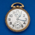 Timepieces:Pocket (post 1900), Elgin B.W. Raymond 23 Jewel Wind Indicator Pocket Watch. ...