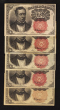 Fractional Currency:Fifth Issue, Fr. 1265 10¢ Fifth Issue Extremely Fine.. Fr. 1266 10c Fifth Issue Very Fine or better. Four Examples.. ... (Total: 5 notes)