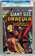 Bronze Age (1970-1979):Horror, Giant-Size Dracula #3 (Marvel, 1974) CGC NM- 9.2 White pages....
