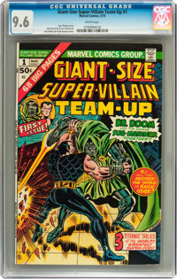 Giant-Size Super-Villain Team-Up #1 (Marvel, 1975) CGC NM+ 9.6 White pages