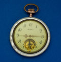"Timepieces:Pocket (post 1900), Swiss ""Marlboro"" Logo Mother Of Pearl Case Pocket Watch. ..."