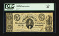 Confederate Notes:1861 Issues, Fully Framed T34 $5 1861.. ...