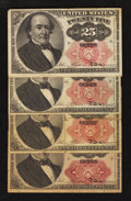 Fractional Currency:Fifth Issue, Fr. 1308 25¢ Fifth Issue Very Fine. Three Examples.. Fr. 1309 25cFifth Issue Very Fine.. ... (Total: 4 notes)