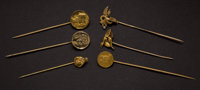 Six Early Stick Gold Pins