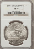 Modern Issues: , 2000-P $1 Library MS70 NGC. NGC Census: (674). PCGS Population(296). Numismedia Wsl. Price for problem free NGC/PCGS coin...