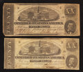 Confederate Notes:1862 Issues, T51 $20 1862. Two Examples.. ... (Total: 2 notes)