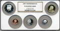 Proof Sets, 2007-S Silver Proof Set PR69 Ultra Cameo NGC. This set includes: Lincoln Cent, Monticello Nickel, Roosevelt Dime, Kennedy Ha... (Total: 5 coins)
