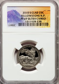 Proof National Parks Quarters, 2010-S 25C Yellowstone National Park Clad PR69 Ultra Cameo NGC.PCGS Population (954/311). (#418831)...