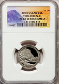Proof National Parks Quarters, 2010-S 25C Yosemite National Park Clad PR69 Ultra Cameo NGC. PCGSPopulation (984/236). (#418837)...