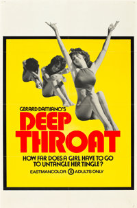 "Deep Throat (Aquarius Releasing, 1972). One Sheet (25"" X 38"")"