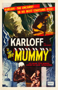 "Movie Posters:Horror, The Mummy (Realart, R-1951). One Sheet (27"" X 41"").. ..."
