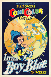 "Little Boy Blue (Powers ComiColor, 1936). One Sheet (27"" X 41""). Animation"