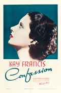 "Movie Posters:Drama, Confession (Warner Brothers, 1937). One Sheet (27"" X 41"").. ..."