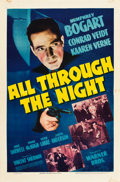 "Movie Posters:Film Noir, All Through the Night (Warner Brothers, 1942). One Sheet (27"" X41"").. ..."
