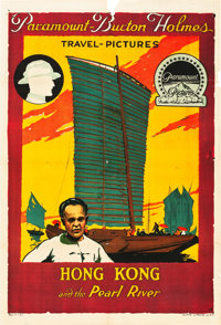 "Burton Holmes Travel Pictures (Paramount, 1916). One Sheet (28"" X 41"").""Hong Kong and the Pearl River.&qu..."