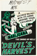 "Movie Posters:Exploitation, Devil's Harvest (Continental, 1942). One Sheet (28"" X 42"").. ..."