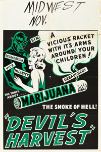 "Devil's Harvest (Continental, 1942). One Sheet (28"" X 42"")"