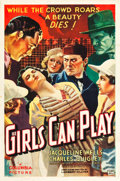 "Movie Posters:Drama, Girls Can Play (Columbia, 1937). One Sheet (27"" X 41"").. ..."
