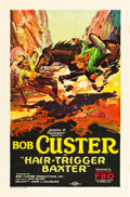 "Movie Posters:Western, Hair Trigger Baxter (FBO, 1926). One Sheet (27"" X 41"") Style B....."