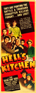 "Movie Posters:Crime, Hell's Kitchen (Warner Brothers, 1939). Insert (14"" X 36"").. ..."