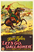 "Movie Posters:Western, Let's Go Gallagher (FBO, 1925). One Sheet (27"" X 41"") Style A.. ..."