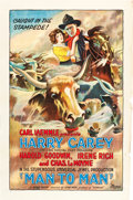 "Movie Posters:Western, Man to Man (Universal, 1922). One Sheet (27"" X 41"").. ..."